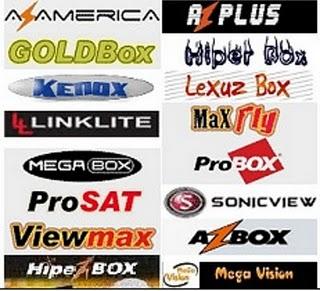 receptores%20satelite Firmwares Atualização Azbox, Prosat, e Outros